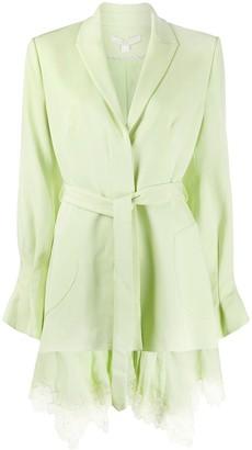 Jonathan Simkhai Lace Hem Blazer Dress