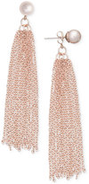 INC International Concepts Robert Rose for Imitation Pearl Tassel Drop Earrings, Only at Macy's