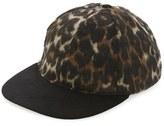 Topman Men's Aaa Collection Leopard Print Snapback Cap - Brown