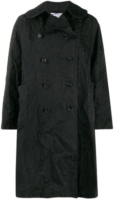 Comme des Garcons Textured Double-Breasted Coat