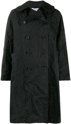 Comme des Garçons Comme des Garçons Textured Double-Breasted Coat
