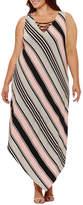 S.O.H.O New York Sleeveless Stripe Maxi Dress-Plus