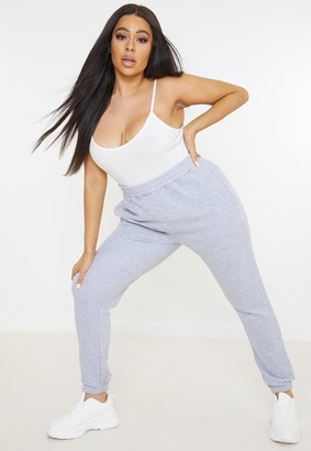 Missguided Plus Size Grey Marl Basic Joggers