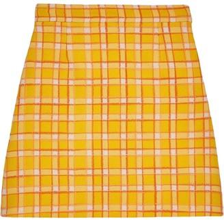 Gucci check A-line mini skirt