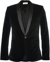 Saint Laurent - Black Slim-fit Velvet Tuxedo Jacket