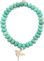 Sydney Evan Diamond Hummingbird Beaded Bracelet