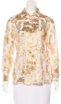 Altuzarra Silk Brocade Top