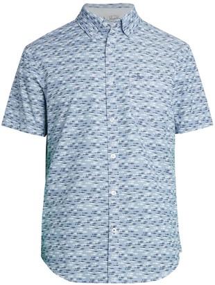 Original Penguin Fish-Print Short-Sleeve Shirt