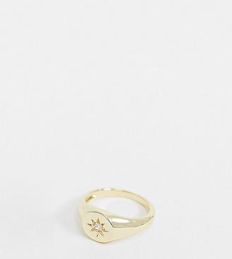 Shashi Starburst signet ring in gold