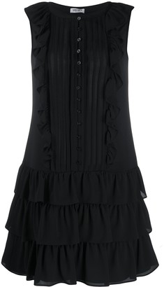 Liu Jo Pleated Tiered Mini Dress