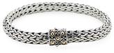 John Hardy Dot Two-Tone Woven Chain Bracelet
