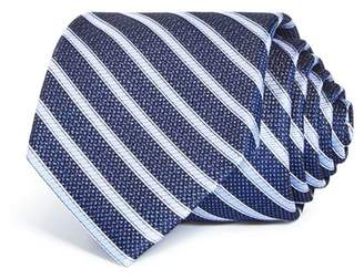 Bloomingdale's The Men's Store at Textured Stripe Silk Classic Tie - 100% Exclusive