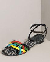 Patent Rainbow Flat Sandal