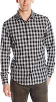 Original Penguin Men's Long Sleeve Double Weave Gingham Woven