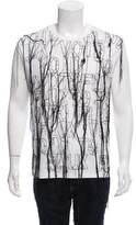 Raf Simons Embroidered Draped T-Shirt