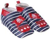 Jo-Jo JoJo Maman Bebe Pirate Booties (Baby)-Navy-6-12 Months