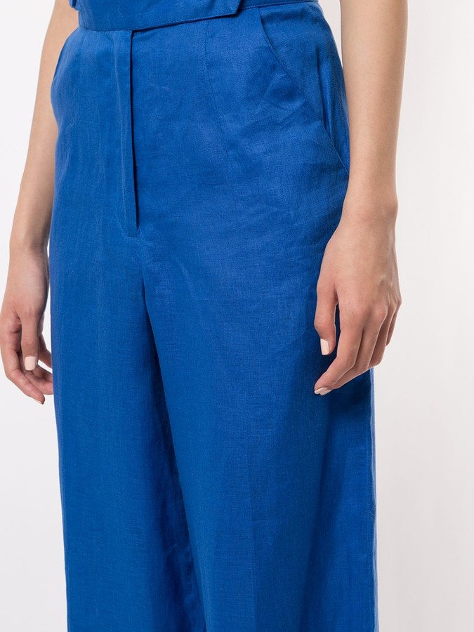Thumbnail for your product : Bambah Wide-Leg Linen Trousers