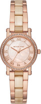 Michael Kors MK3700 Noirie rose gold-toned stainless steel watch