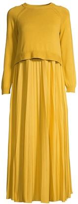 Max Mara Barabba Sweater Twofer Dress