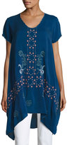 Johnny Was Willamy Embroidered Georgette Blouse