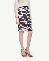 Ann Taylor Petite Butterfly Jacquard Pencil Skirt