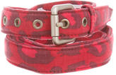 Michael Bastian Leopard Canvas Belt