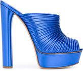 Casadei open toe platform mules - women - Leather - 35