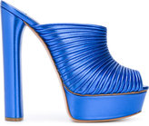 Casadei open toe platform mules - women - Leather - 36