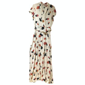 N. \n White Silk Dress for Women