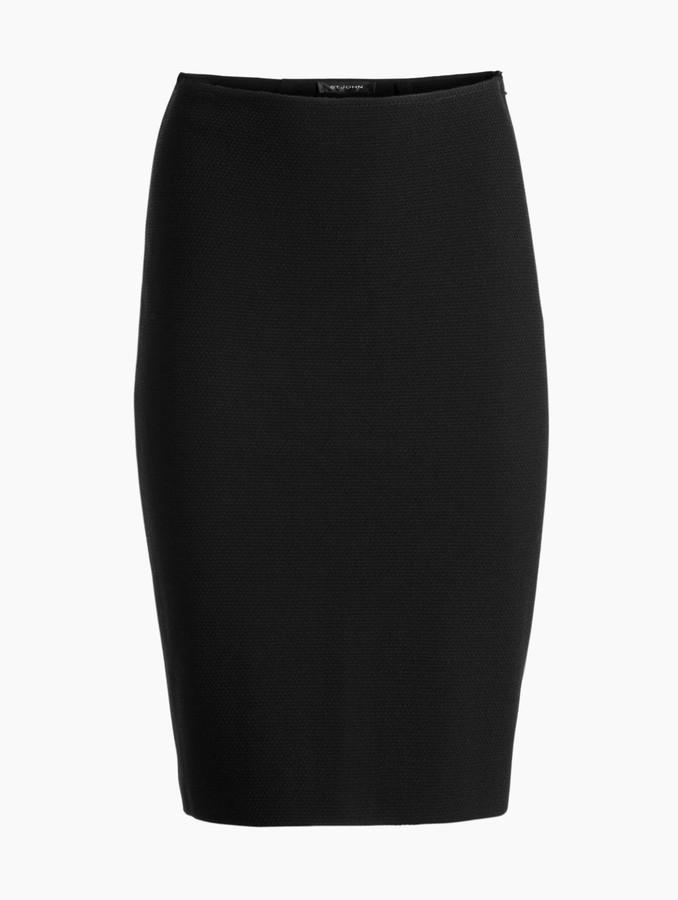 St. John Micro Boucle Knit Pencil Skirt