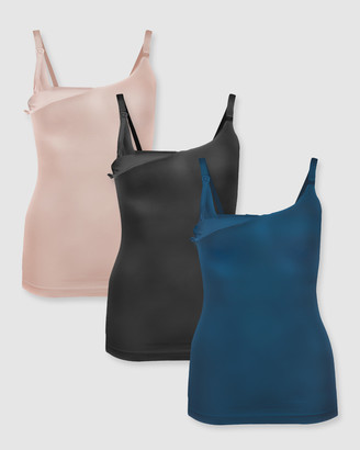 B Free Intimate Apparel Bamboo Nursing Camisole - 3 Pack