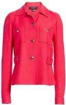 St. John Gail Stretch-Wool Knit Button Jacket