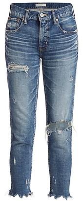 Moussy Ridgewood Distressed Skinny Jeans