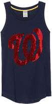 PINK Washington Nationals Bling Rib Neck Tank
