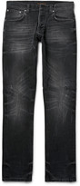 Nudie Jeans Grim Tim Slim-Fit Distressed Organic Stretch-Denim Jeans