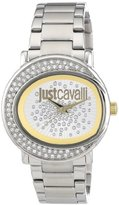 Just Cavalli Women's R7253186502 Lac Stainless Steel Silver Dial Swarovski Crystal Watch