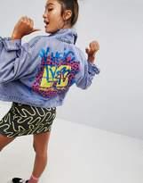 Asos Denim x MTV Jacket in Purple Acid With Printed Back