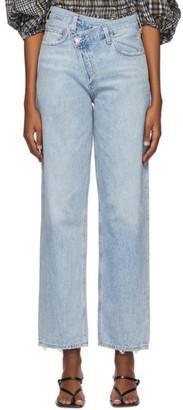 AGOLDE Blue Criss-Cross Jeans
