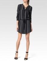 Paige Mirren Dress - Black W/ White Miri Stripe