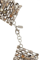 Swarovski Speakeasy palladium-plated, crystal and faux pearl collar necklace