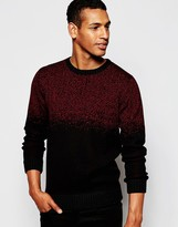 Antony Morato Snow Effect Knitted Jumper - Red