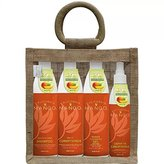 California Mango Essential Shower Care Kit in a Jute Bag, 4 Count