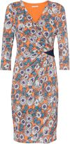Gina Bacconi Flower print jersey dress with sequin