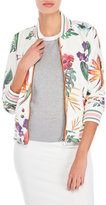 Bagatelle Printed Faux Leather Varsity Jacket
