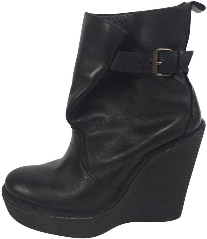 Pierre Hardy Leather buckled boots