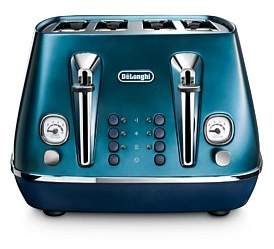 De'Longhi Delonghi Cti4003Bl Distinta Flair 4 Slice Toaster - Blue