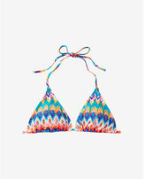 Express blurred zigzag adjustable triangle bikini swim top