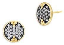 Freida Rothman Two Tone Sparkle Stud Earrings