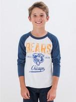 Junk Food Clothing Kids Boys Nfl Chicago Bears Raglan-sugar/new Navy-s