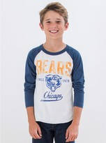 Junk Food Clothing Kids Boys Nfl Chicago Bears Raglan-sugar/new Navy-xxl